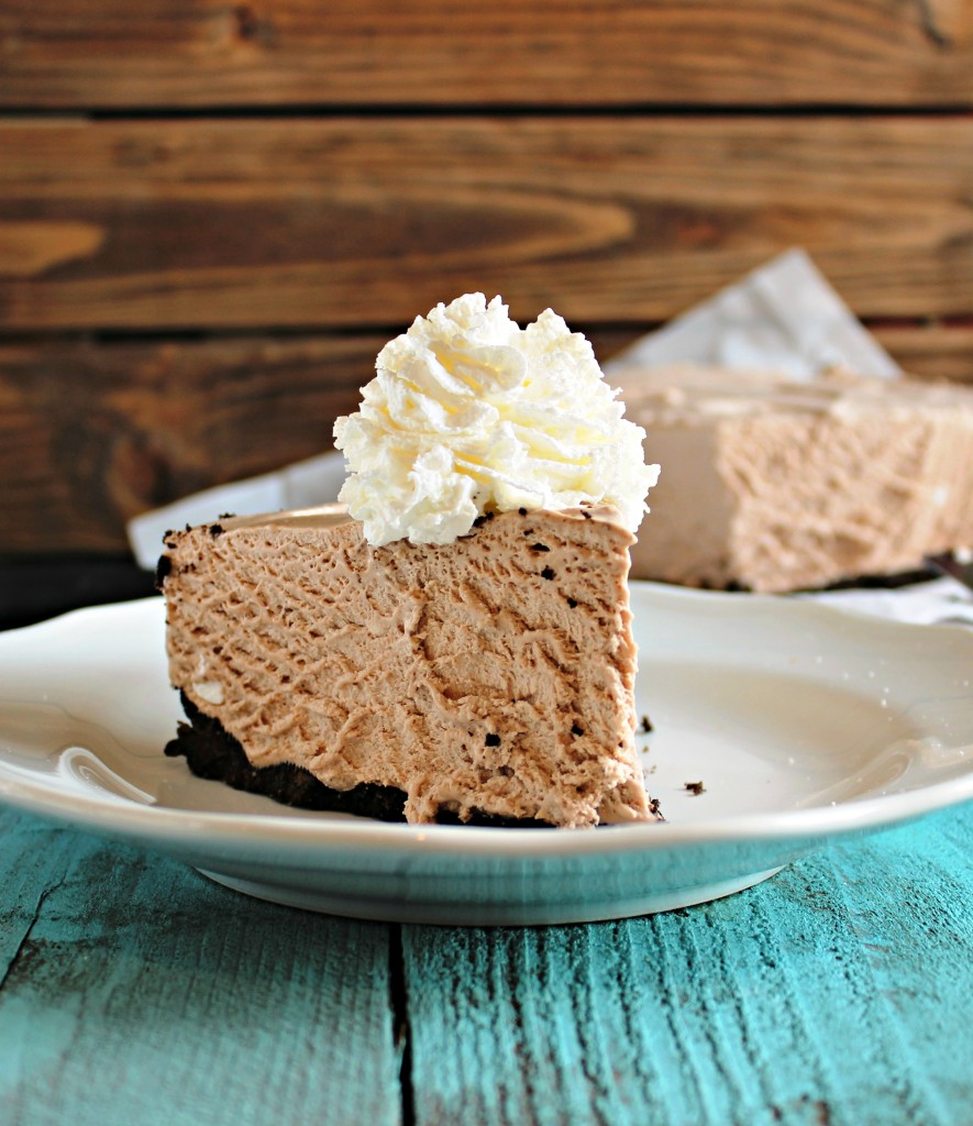 Frozen Hot Chocolate Cheesecake - Chelsea's Messy Apron