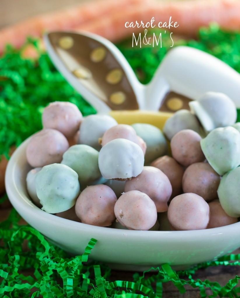 Easy Carrot Cake M&Ms by Chelsea's Messy Apron